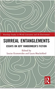 Cover of Surreal Entanglements with swirling white-on-gray background.